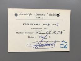 EEKLO - Harmonie - Fanfare - Erelidkaart Amicitia - Eeklo