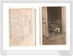 3454 FRD27 AK/PC/CARTE PHOTO SAINT PIERRE DES IFS/MILITAIRES JOUANT AUX CARTES/1916 - Francia
