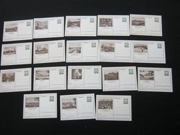 10 Pfg. Dürer , 18 Verschiedene Bildganzsachen - BRD