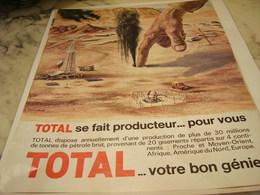 ANCIENNE   PUBLICITE SE FAIT PRODUCTEUR POUR VOUS TOTAL 1965 - Publicités