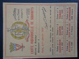 Carte Individuelle De Souhaits (Louis Daspet) - Vieux Papiers