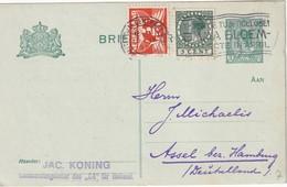 PAYS-BAS 1927     ENTIER POSTAL/GANZSACHE/POSTAL STATIONERY CARTE DE AMSTERDAM - Entiers Postaux