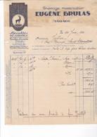 TARARE 1930 /  JOLIE FACTURE / TISSAGE MECANIQUE EUGENE BRULAS - France