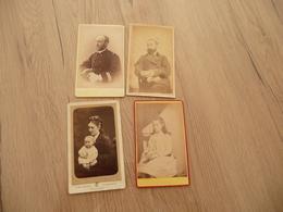 LOT 4 Photos CDV Familles Duchesne / Magnol Montpellier Nommées Au Dos - Personnes Identifiées