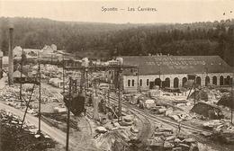SPONTIN - Les Carrières. Société Anonyme Des Carriéres De Spontin. Train De Chantier Et Gare SNCB. - Yvoir