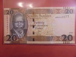 SOUDAN (SUD) 20 POUNDS 2016 NEUF - Soudan Du Sud
