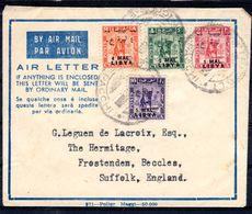 25.2.1952; Air Letter, Tripoli To Venezia Italie, YT No. 106 - 109 Sur AIR LETTER,  Lot 51149 - Libya