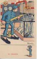 Illustrateur  GERVESE Série NOS MARINS N°48 Mécanicien - Gervese, H.