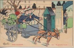 Illustrateur  GERVESE Série NOS MARINS N°23 A Gauche Toute !.... - Gervese, H.