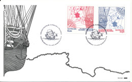 Denmark FDC 7-11-2013 Trade Treaties Denmark - France Complete Set Of 2 With Cachet - FDC