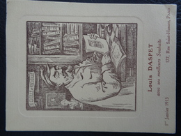 Carte De Souhaits De Louis Daspet (1913) - Documentos Antiguos