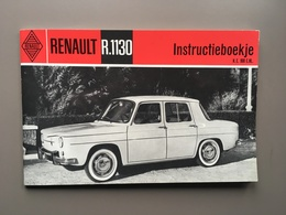 RENAULT R.1130 - Instructieboekje - Carnet D' Instruction - Cars
