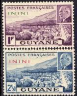 Inini N° 51 / 52  XX Timbres De Guyane ( Mal Pétain)  Surchargé : La Paire  Sans Charnière TB - Inini (1932-1947)