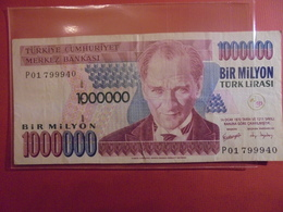 TURQUIE 1000.000 LIRASI 2002 CIRCULER - Turquie