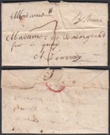 "FRANCE 1716 MANU ""BETHUNE"" VERS TOURNAI BELGIQUE   (DD) DC-2355 - Postmark Collection (Covers)"