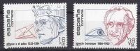 ESPAÑA 1984 - PERSONAJES - ALFONSO X EL SABIO - DR BARRAQUER  - Edifil Nº 2759-60 - Yvert 2373-2374 - Ajedrez