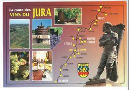 CP Carte Du Jura (39) Route Des Vins Du Jura Arbois Chateau Chalon L'Etoile St Amour - Ohne Zuordnung