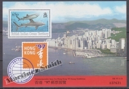 British Indian Ocean 1996 Yvert BF 7, Hong Kong 97 Stamp Exhibition Commemorative Issue - Miniature Sheet- MNH - British Indian Ocean Territory (BIOT)