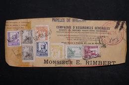 ESPAGNE - Fragment D 'enveloppe En Recommandé De San Sébastien Avec Cachet De Censure - L 24976 - 1931-50 Briefe U. Dokumente