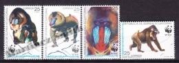 Equatorial Guinea -  Guinea Ecuatorial - Guinée Équatoriale 1991 Edifil 139- 42, WWF - Nature Protection - MNH - Guinea Ecuatorial
