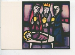 Eric De Saussure - Frère Eric De Taizé 1925/2007 Vitrail église De La Réconciliation - EPIPHANIE (cp Vierge) - Arts