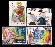 ESPAÑA 1984 - FIESTAS POPULARES ESPAÑOLAS -  - Edifil Nº 2744-47 - Yvert Nº 2357-2358-2376-2390- - Carnavales