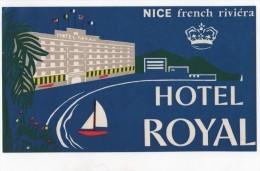 Etiquette Hôtel Royal Nice French Riviera - Hotel Labels