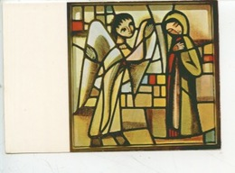 Eric De Saussure - Frère Eric De Taizé 1925/2007 Vitrail église De La Réconciliation - ANNONCIATION (cp Vierge) - Arts