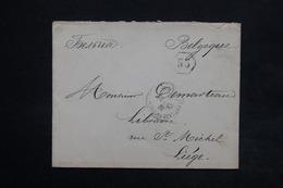 RUSSIE - Enveloppe Pour La Belgique En 1897 , Affranchissement Au Verso - L 24982 - 1857-1916 Empire