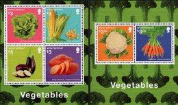 Montserrat - 2014 - Vegetables - Mint Stamp Sheetlet + Souvenir Sheet - Montserrat
