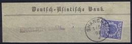 Deutsche Post China :  Deutsch Asiatische Bank / ENGLISH MAIL Cancel Vorläufer V48  Stempel 2 Shanghai - Ufficio: Cina