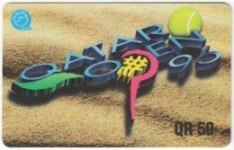 QATAR A-125 Magnetic - Event, Sport, Tennis - Used - Qatar