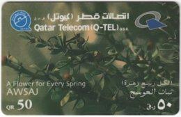 QATAR A-167 Prepaid Telecom - Plant, Flower - Used - Qatar