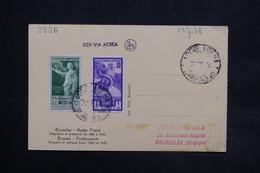 ITALIE / ETHIOPIE - Affranchissement Plaisant D'Addis Abeba Sur Carte Postale Pour La Belgique En 1938 - L 24992 - Ethiopia