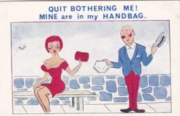 QUIT BOTHERING ME -MINE ARE IN MY HANDBAG - Comics