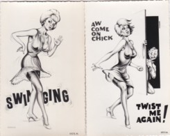 2 CARDS - TWISTING CHIC ????? - Comics