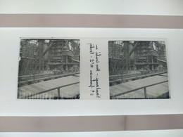 Knutange Une Conlee En Li Fourneau Nº2 Fontoy Stéréo Sur Verre Plaque De Verre Françe - Diapositivas De Vidrio