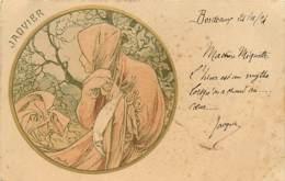 ILLUSTRATEUR MUCHA - JANVIER - Mucha, Alphonse
