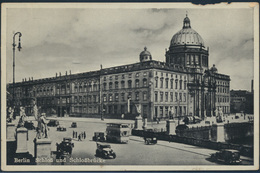 Ansichtskarte Berlin Nach Bad Salzufflen 1939 Schloss Und Schlossbrücke Autos - Deutschland