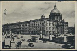 Ansichtskarte Berlin Nach Bad Salzufflen 1939 Schloss Und Schlossbrücke Autos - Allemagne