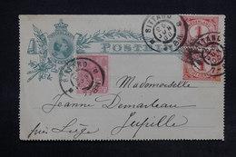 PAYS BAS - Entier Postal + Complément De Sittard Pour La Belgique En 1900 - L 24997 - Postal Stationery