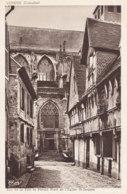 Lisieux (14) - Rue De La Paix Et Portail Nord De L'Eglise St Jacques - Lisieux
