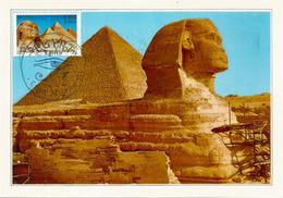 Sphinx De Gizeh & Pyramide De Khéops, Carte-maximum Souvenir Du Pavillon EGYPTE De L'EXPO UNIVERSELLE MILAN 2015 (RARE) - 2015 – Milan (Italy)