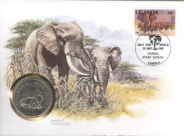 Numisbrief Mit Tansania 100 Shillingi 1986 Elefanten - Tanzanie