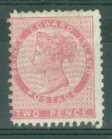Prince Edward Is.: 1862/69   QV   SG13    2d   Deep Rose   [Perf: 11½-12] [Die 1]  MH - Prince Edward Island