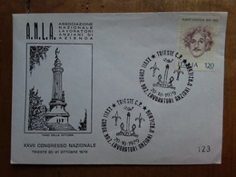 REPUBBLICA - Marcofilia - Congresso Nazionale Lavoratori Anziani D'azienda - Trieste '79 + Spese Postali - 6. 1946-.. Repubblica