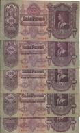 HONGRIE 100 PENGO 1930 VF P 98 ( 5 Billets ) - Hongrie