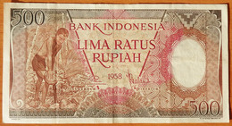 Indonesia 500 Rupiah 1958 VF - Indonésie