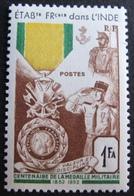 R1949/230 - 1952 - CENTENAIRE DE LA MEDAILLE MILITAIRE - INDE - N°258 NEUF** - India (1892-1954)