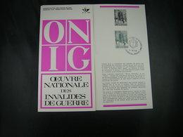 "BELG.1969 1510 FDC Folder FR (Brux) : "" INVALIDES DE GUERRE "" - FDC"